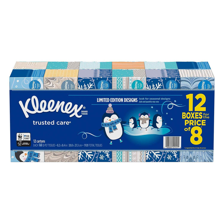 Kleenex Facial Tissue (12 Pack, 160 tissues)