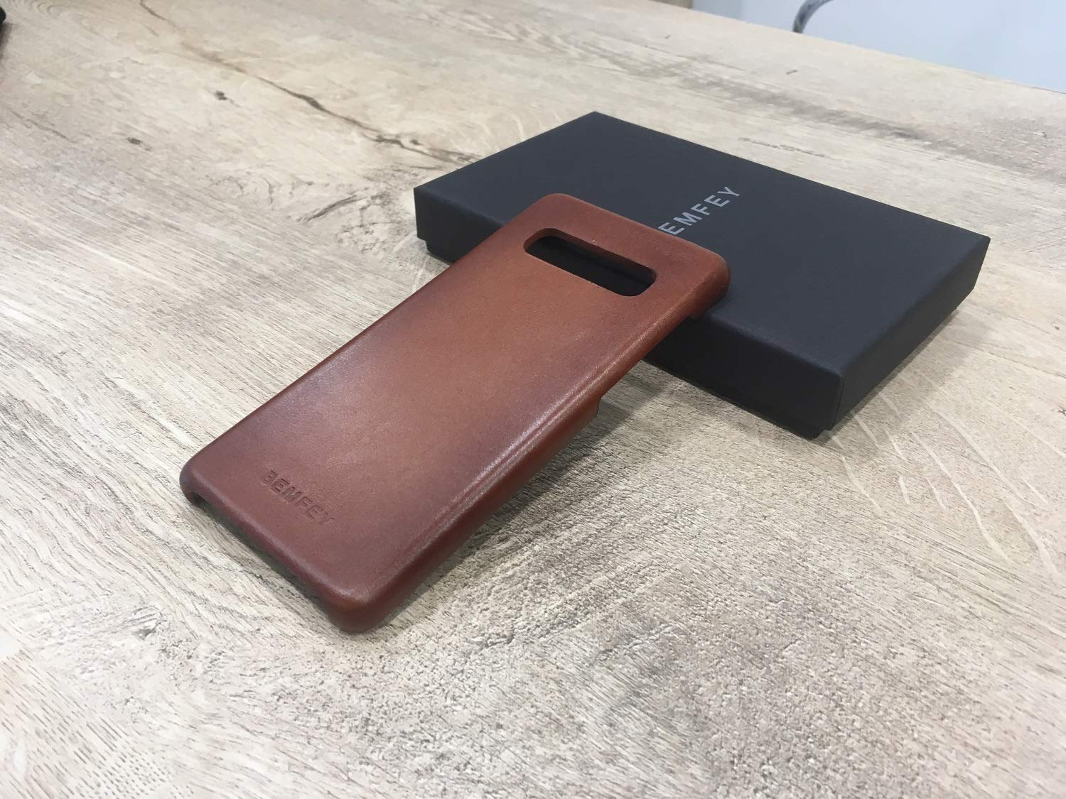Handmade S10 cover Personalized galaxy s10 cases BEMFEY Top-Notch quality genuine brown burnished Leather Samsung Galaxy S10 Case birthday gift 6.1