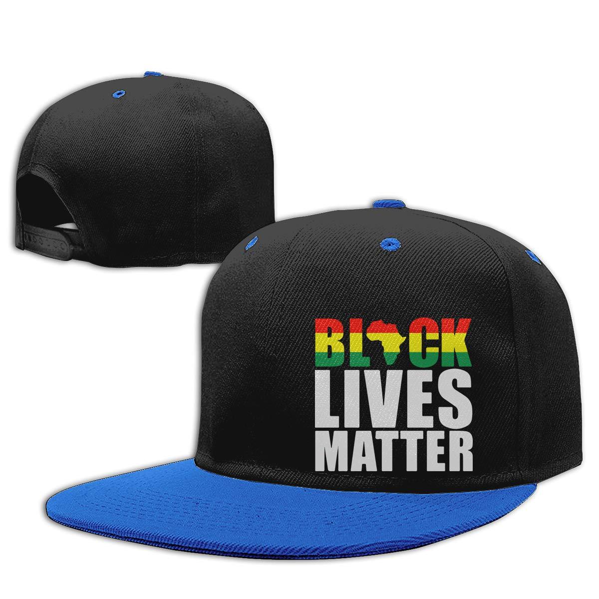 Black Lives Matter African American Adults Flat Bill Baseball Caps Men Womens Snapback Cap