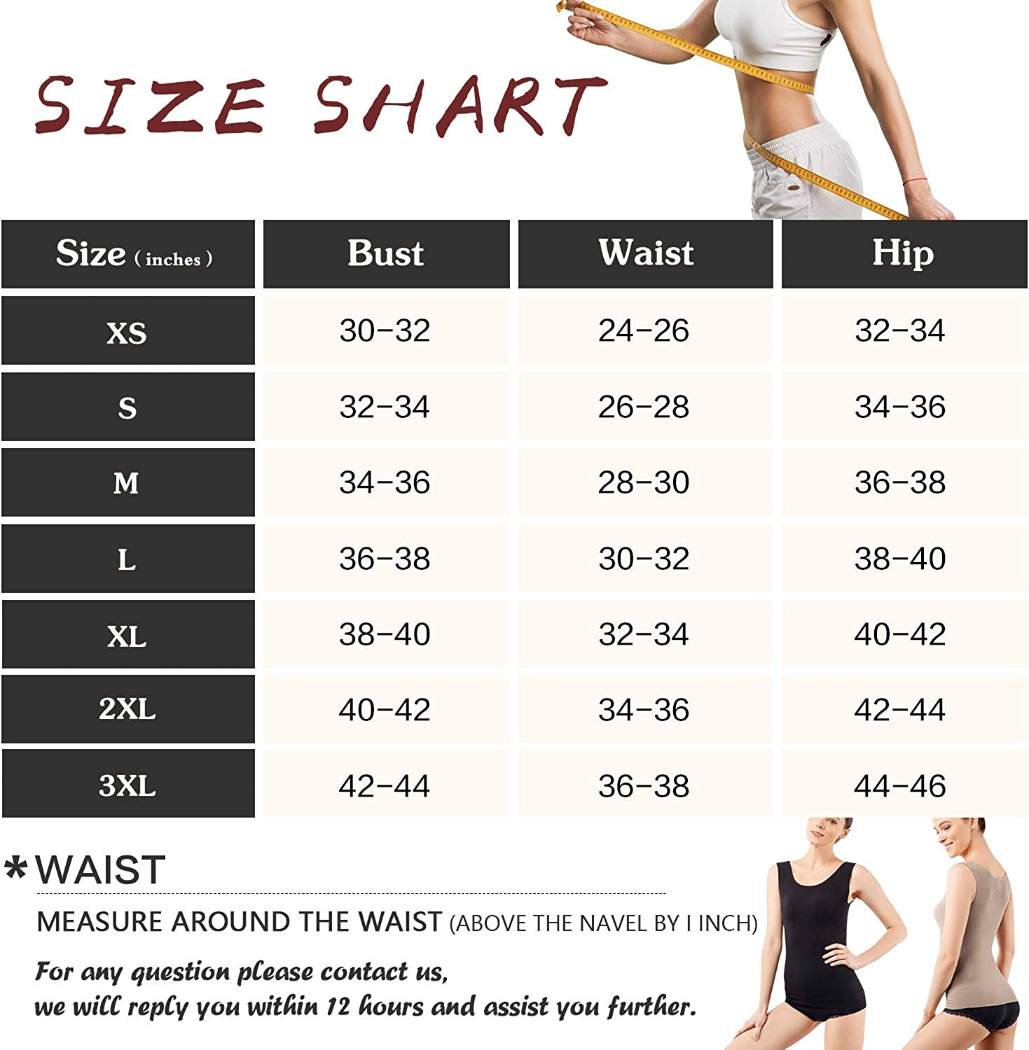 MD Shapewear Womens Tank Tops Body Shaper Camisole For Tummy Waist And Hips