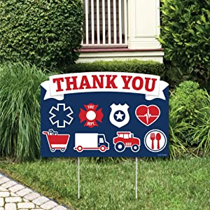 Big Dot of Happiness Thank You Front Line Workers - Yard Sign Lawn Decorations - Party Yardy Sign