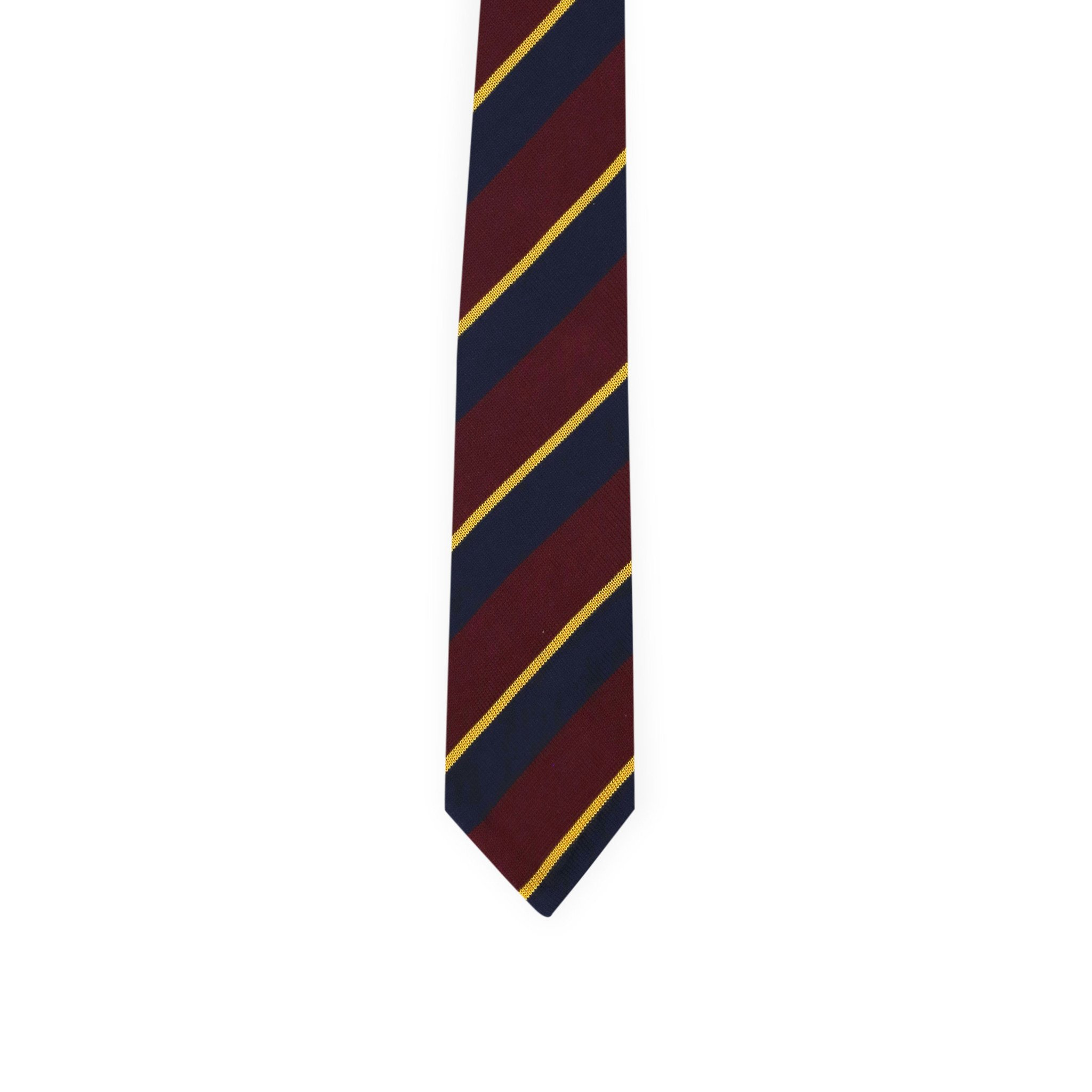 Diagonal regimental tie - burgundy & navy