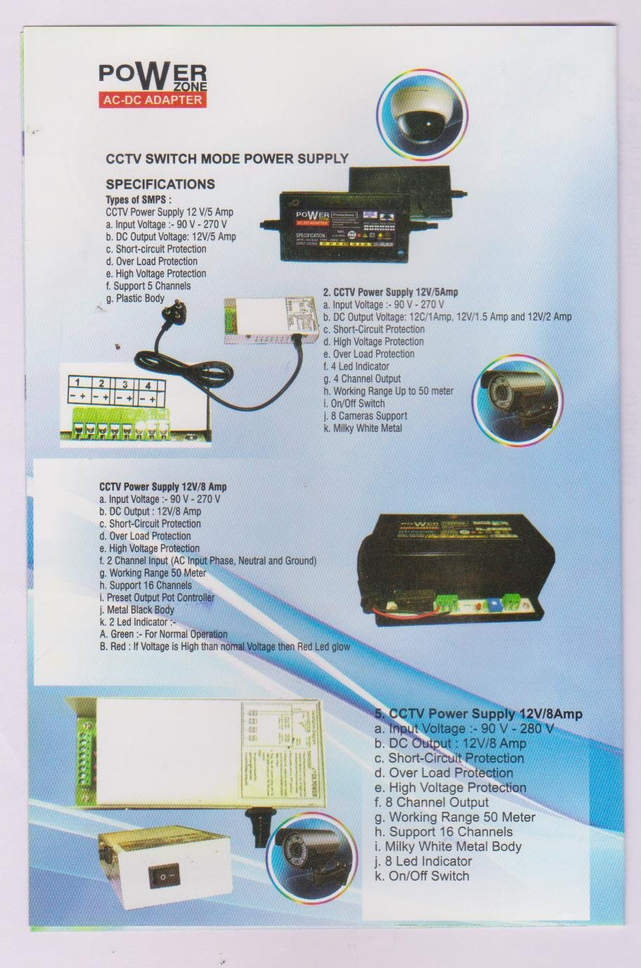 Buy Erd 08 Channel Power Supply For Cameras Online At Low Switchmode Psu Protection Circuit Prices In India Reviews Ratings
