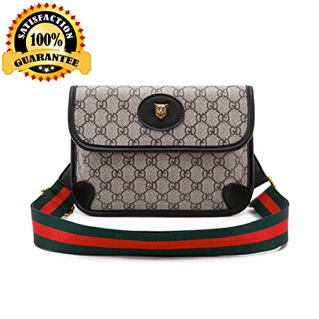 19257f25e684 Waist Bag for Womens Fanny Packs Fashion Flap Crossbody Bags Quilted Belt  Bag Ladies Waist Purse(Waist Bag for Black)