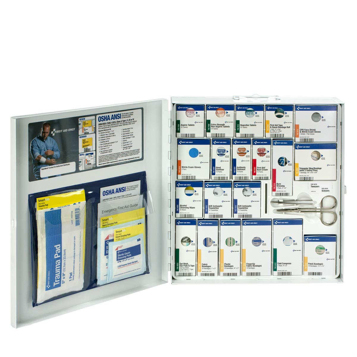 First Aid Only Large SmartCompliance 241 Piece Refill Cabinet with Medications (746000)