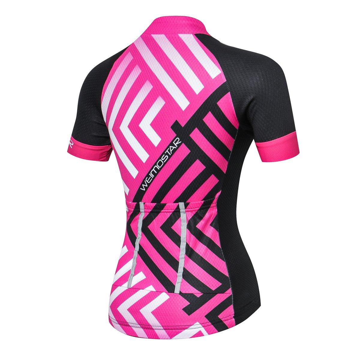 xingrass Womens Cycling Jerseys Short Sleeve Shirts Cycle Racing Shirt Shorts Bicycle Bike Girl Sportwear Clothing Breathable Quick Dry