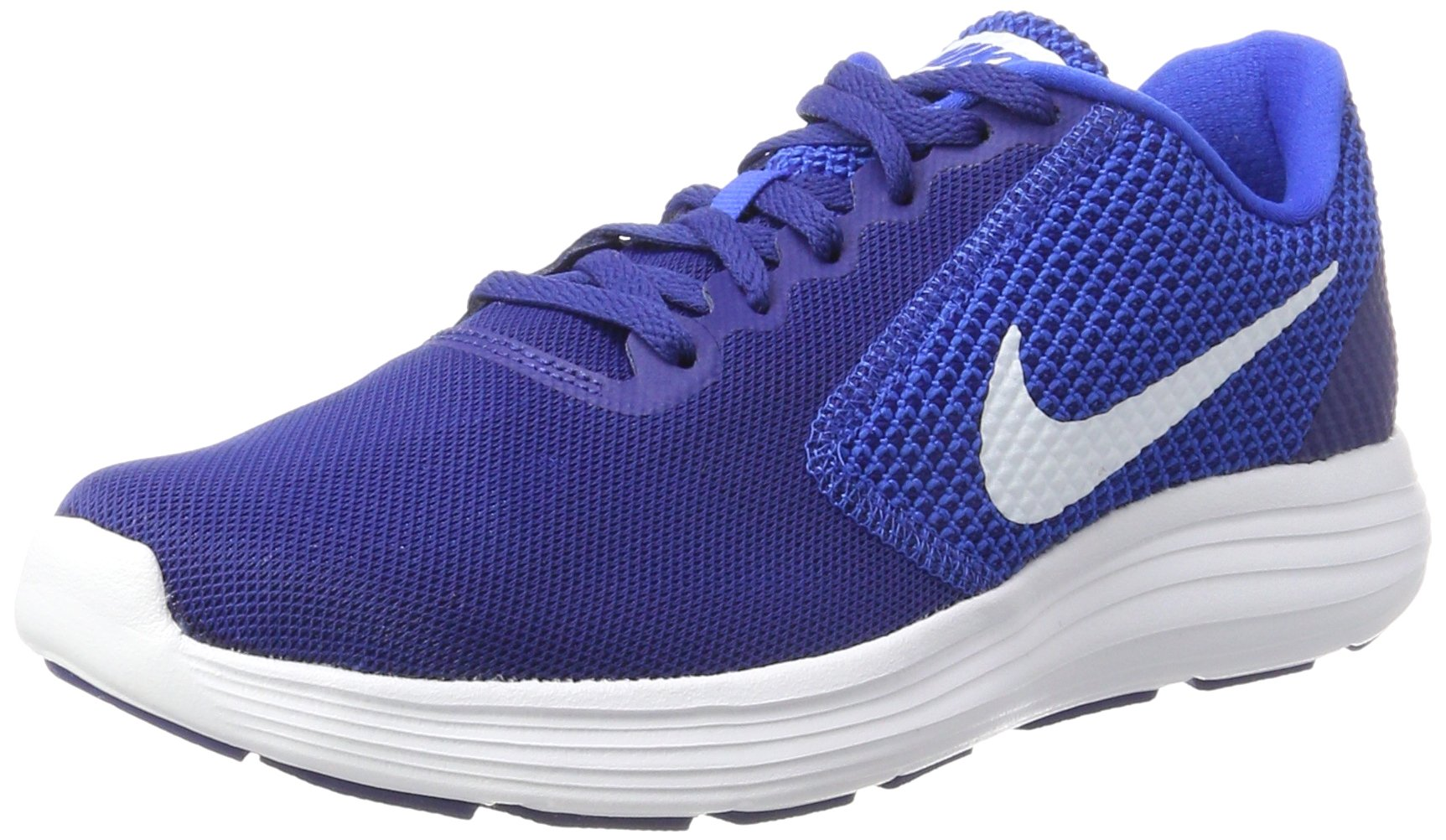 NIKE Men's Revolution 3 Running Shoe, Deep Royal Blue/White/Hyper Cobalt, 6 D(M) US
