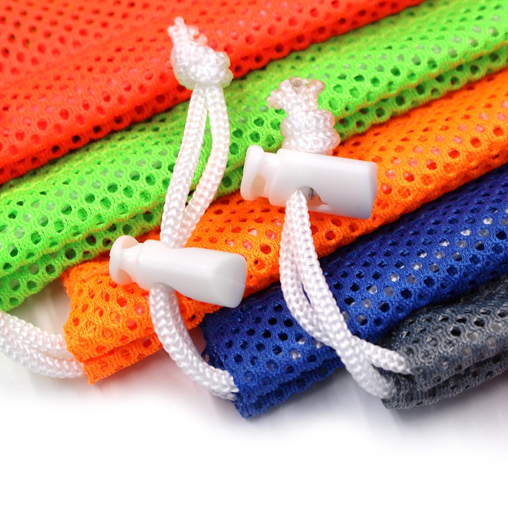 6 PCS Nylon Mesh Drawstring Storage Bag Equipment Bag Stuff Sack Golf Ball Bag ,Assorted by Erlvery DaMain (Image #2)