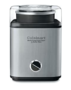Cuisinart CIM-60PCFR Pure-Indulgence 2-Quart Ice-Cream Maker, Brushed Chrome CERTIFIED REFURBISHED