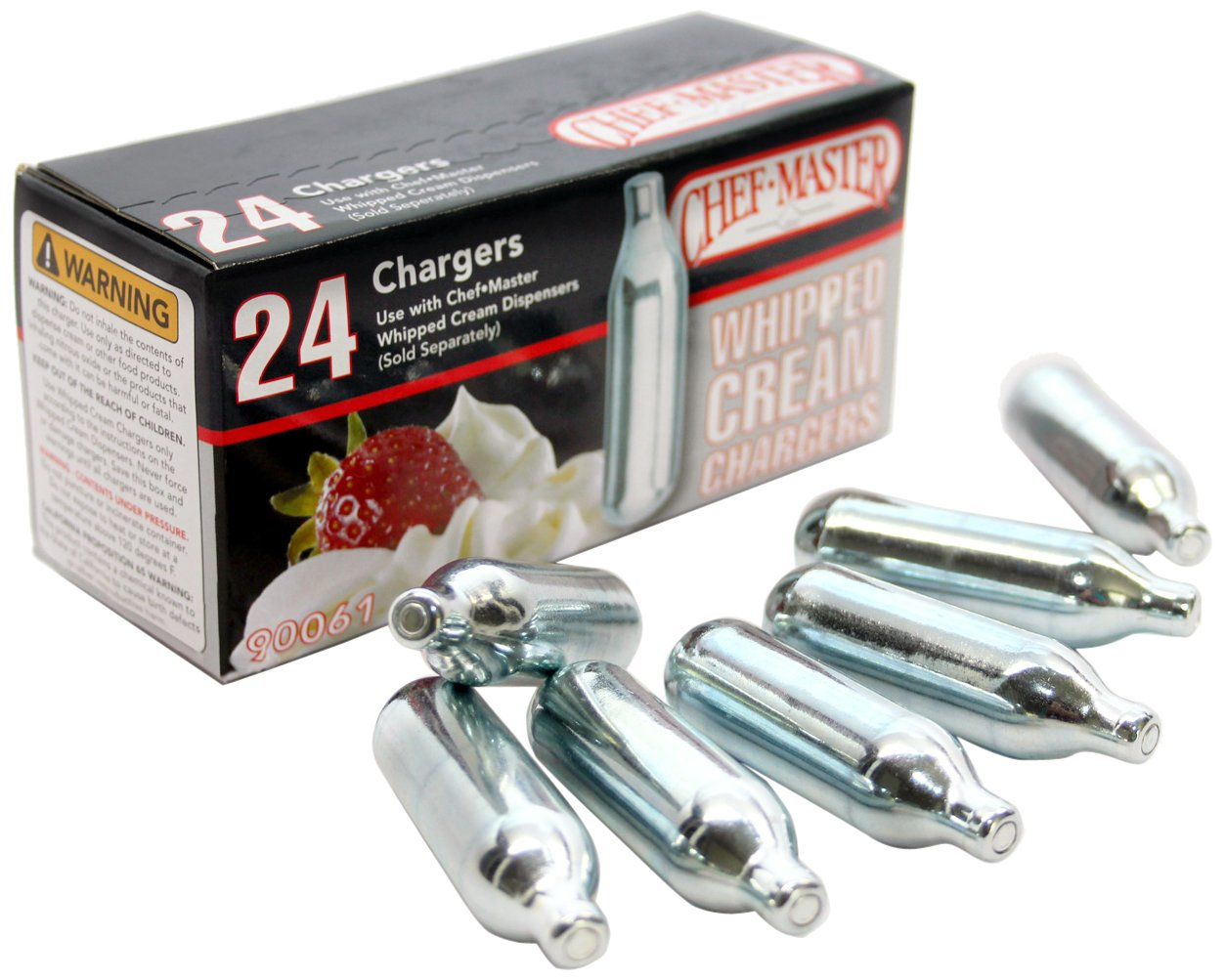 Chef Master Whipped Cream Chargers, 24-Pack Mr. Bar-B-Q Inc. 90061