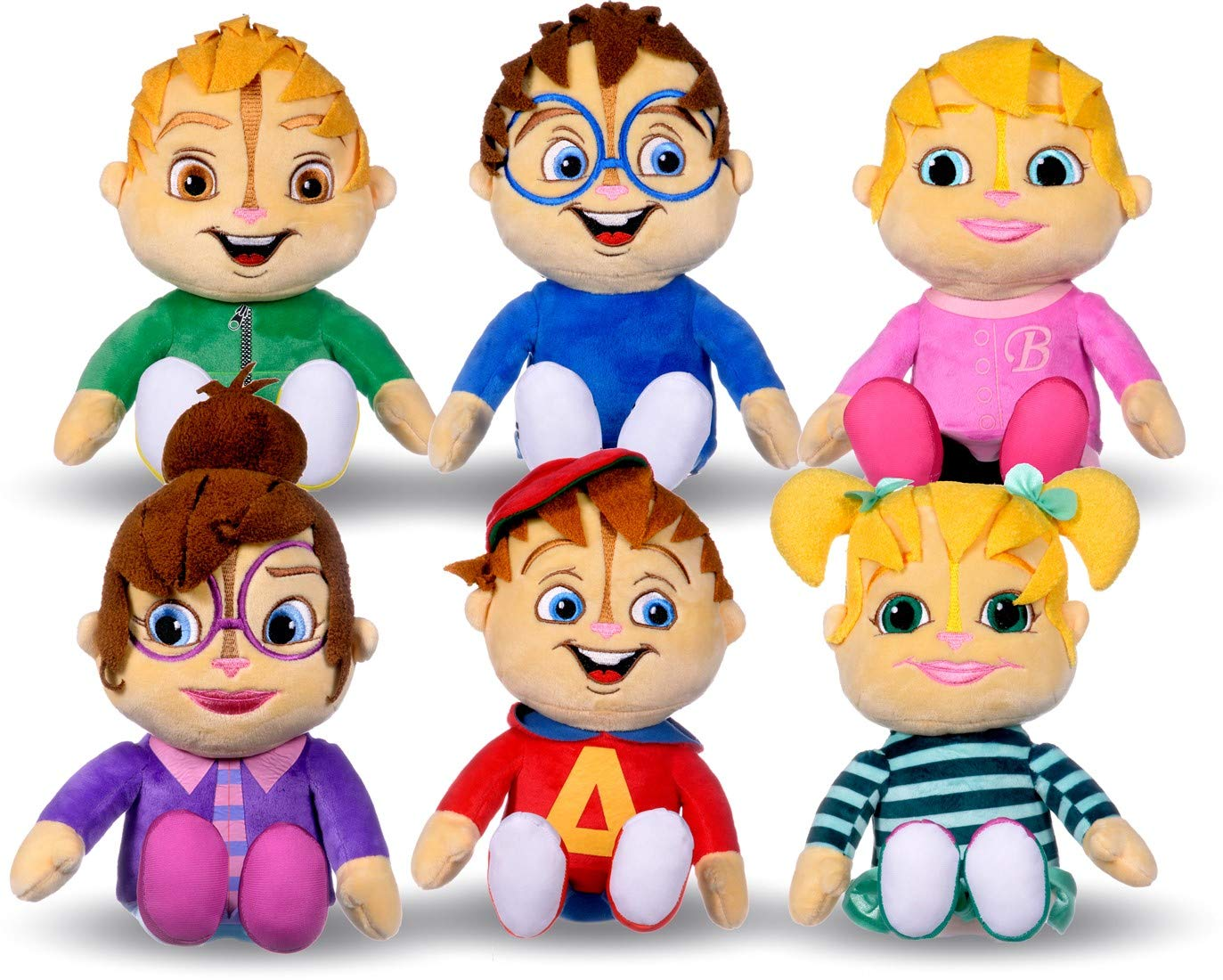 ALVIN And The Chipmunks COMPLETE SET 6 PLUSHIES Peluche 30cm