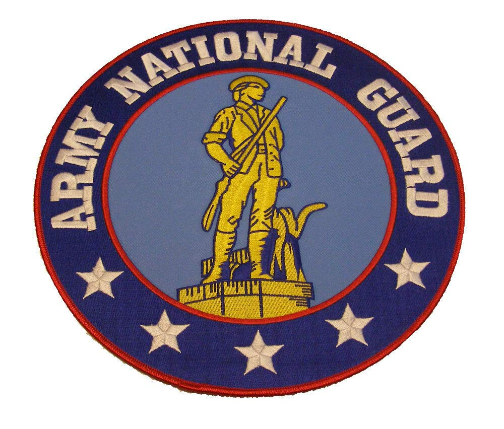 Embroidered Patch - Patches for Women Man - US Army National Guard ANG Minuteman Veteran Soldier by Patcherer