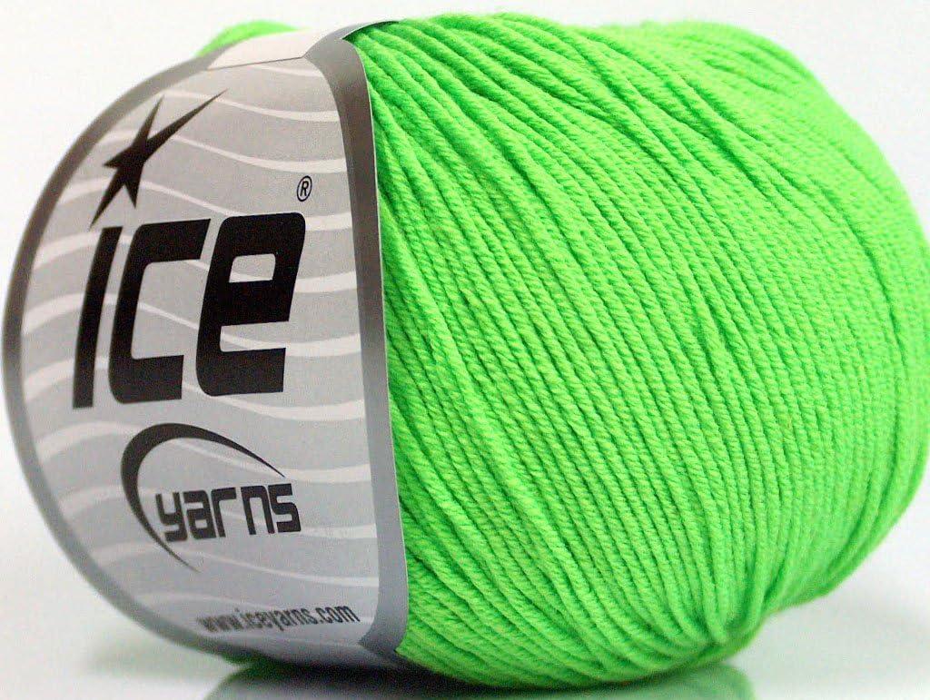Lote de 4 madejas ICE AMIGURUMI: algodón (60% algodón) hilo verde claro: Amazon.es: Juguetes y juegos