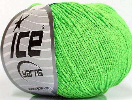 Lote de 4 madejas ICE AMIGURUMI: algodón (60% algodón) hilo verde ...