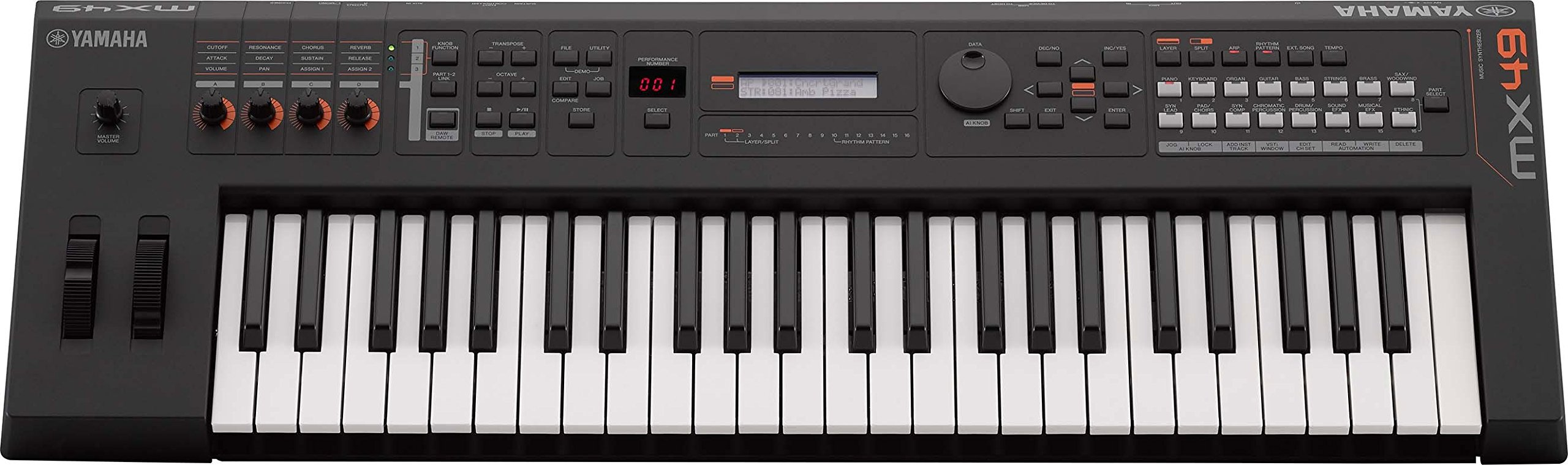 Yamaha MX49 Music Production Synthesizer, Black by YAMAHA