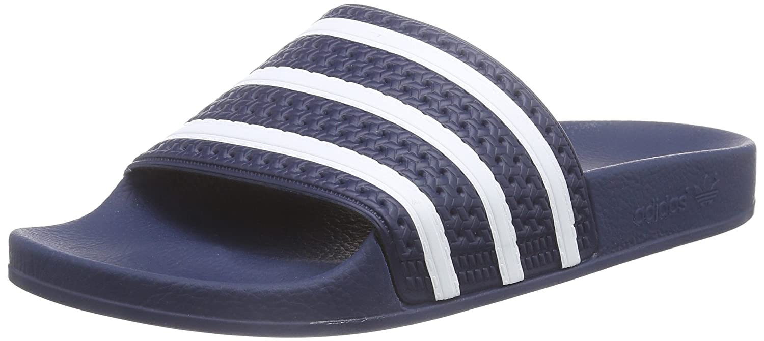 88c90aa1a adidas Originals Men s Adilette Blue and White Flip-Flops and House  Slippers - 9 UK India (43.3 EU) (288022)  Buy Online at Low Prices in India  - Amazon.in