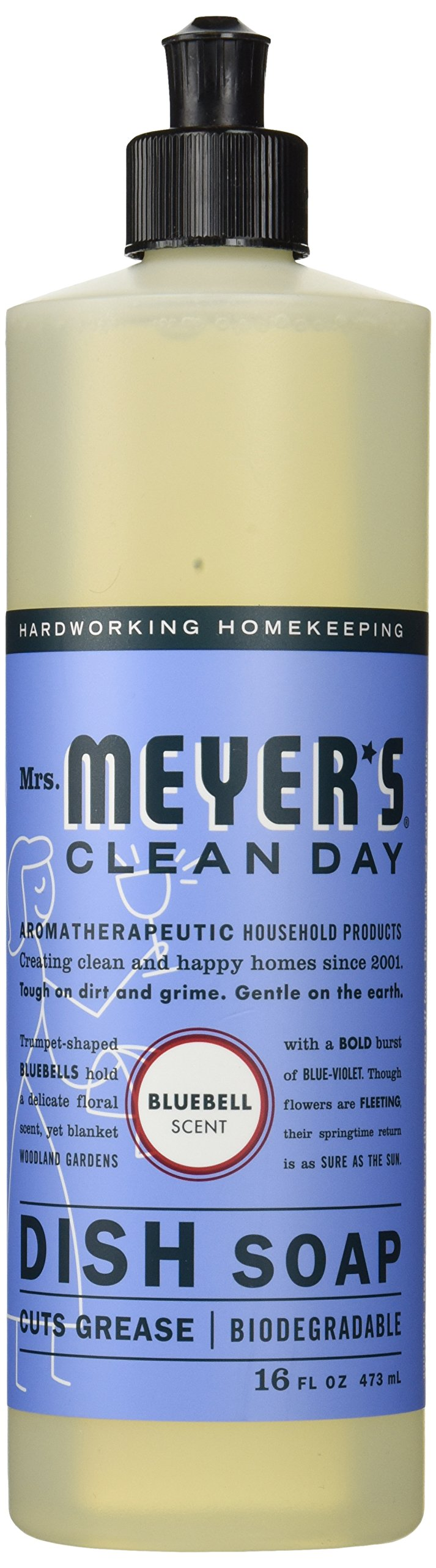 Mrs. Meyer's Clean Day Dish Soap, Bluebell, 16 fl oz
