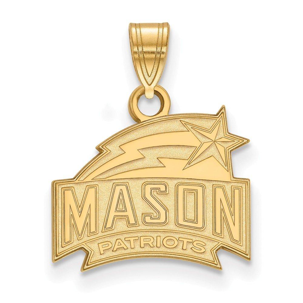 Gold-Plated Sterling Silver George Mason University Sm Pendant LogoArt GP002GMU