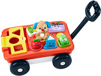 Amazon Com Fisher Price Laugh Learn Pull Play Learning Wagon Toys Games
