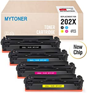 MYTONER Compatible Toner Cartridge Replacement for HP 202X 202A Use in HP LaserJet Pro M281fdw M254dw M281dw M281cdw M280nw Printer (CF500X CF501X CF502X CF503X)