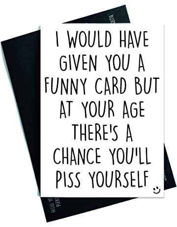 Funny Cards Rude Birthday Card 40th 50th 60th 70th Sister Mum Greeting Witty Humour Laughter