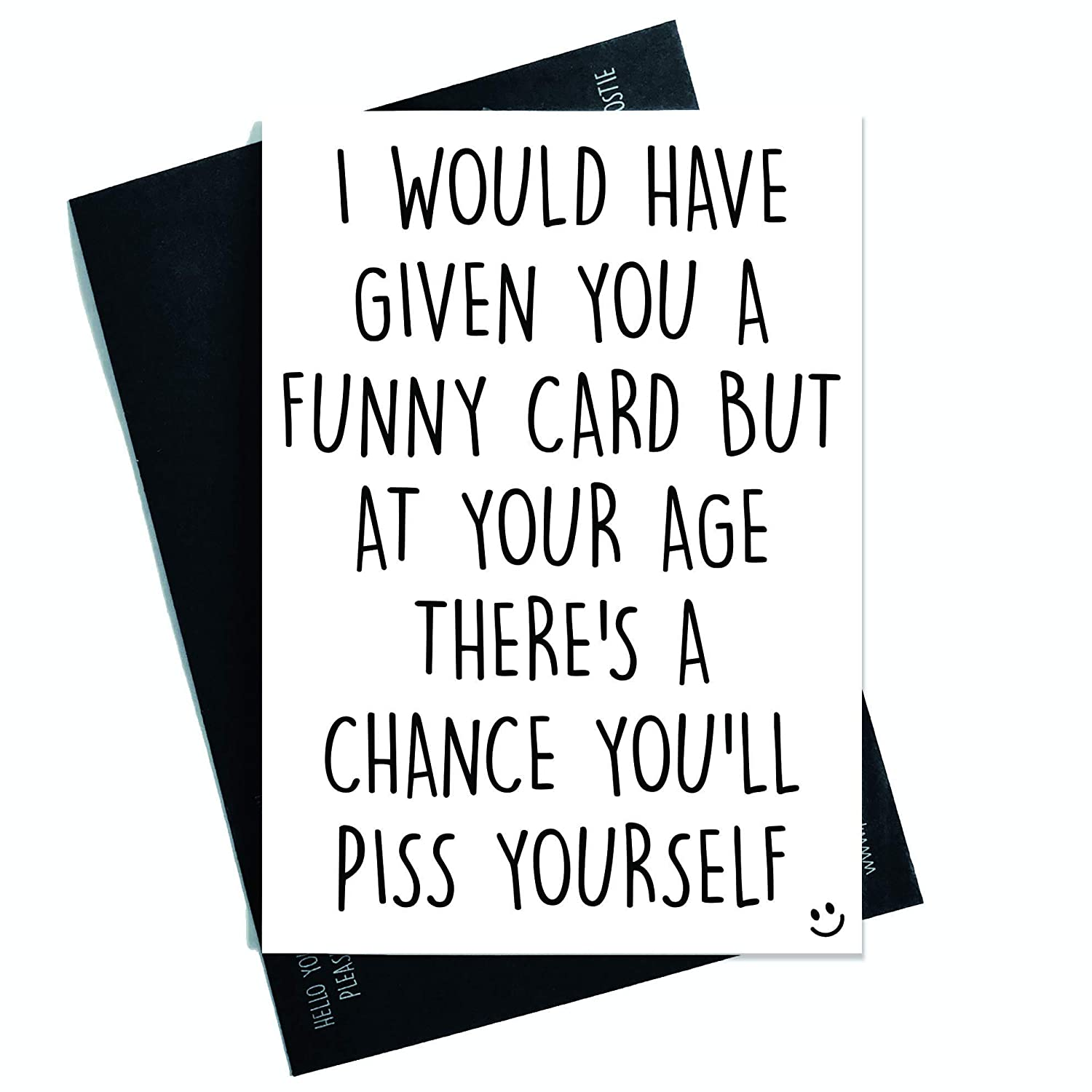 Funny Cards Rude Birthday Card 40th 50th 60th 70th Sister Mum Greeting Witty Humour Laughter Banter Offensive Joke Fun PC374 Amazoncouk
