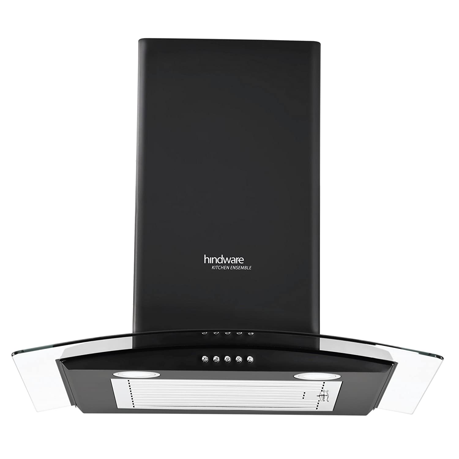 Hindware 60cm 1100 m3/hr Chimney (Sabina Black 60, 1 Baffle