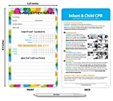Babysitter Notes & Emergency Contacts Magnet for