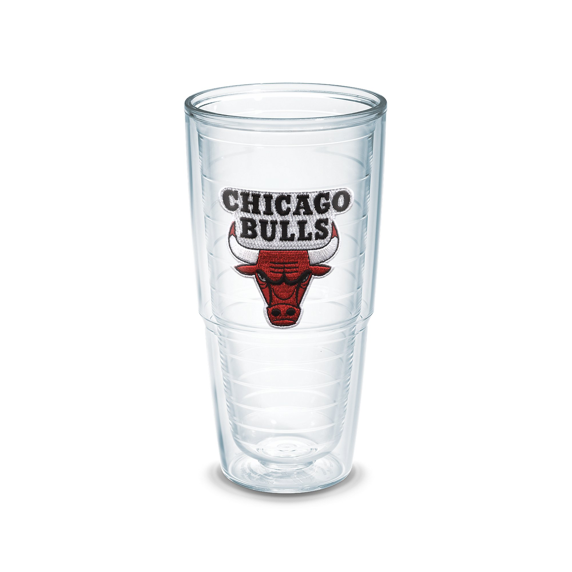 Tervis 1051528''NBA Chicago Bulls'' Tumbler, Emblem, 24 oz, Clear