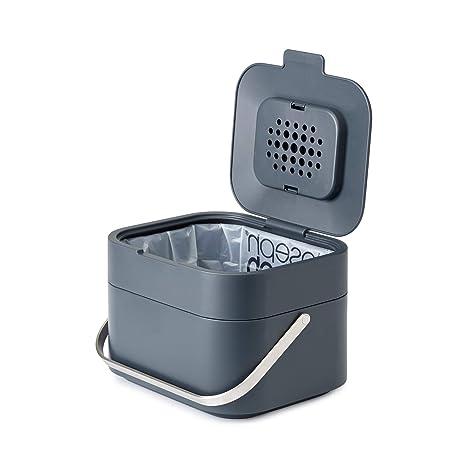Sensational Joseph Joseph 30016 Intelligent Waste Compost Bin Food Waste Caddy With Odor Filter And Ventilation 1 Gallon 4 Liters Graphite Download Free Architecture Designs Parabritishbridgeorg