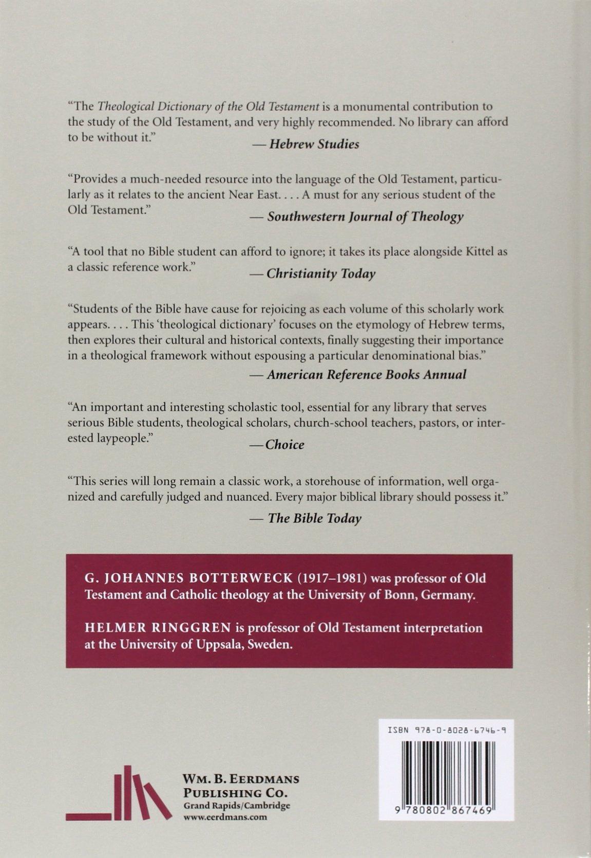 Theological Dictionary of the Old Testament, Volume I: G. Johannes  Botterweck, Helmer Ringgren: 9780802867469: Amazon.com: Books