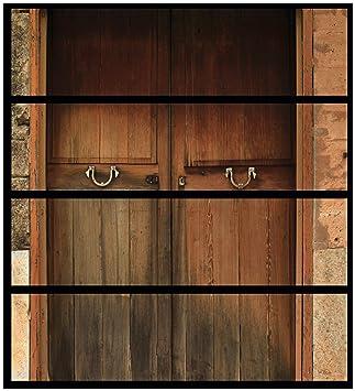 Wall Ario Muebles Protector adhesivo, adecuado para cómoda de Ikea Malm - Puerta de madera natural con 4 cajones: Amazon.es: Hogar