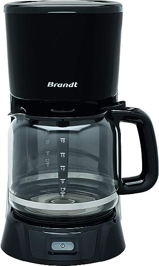 Brandt CAF1318 - Cafetera eléctrica de aceo inoxidable (28,8 x 18 ...