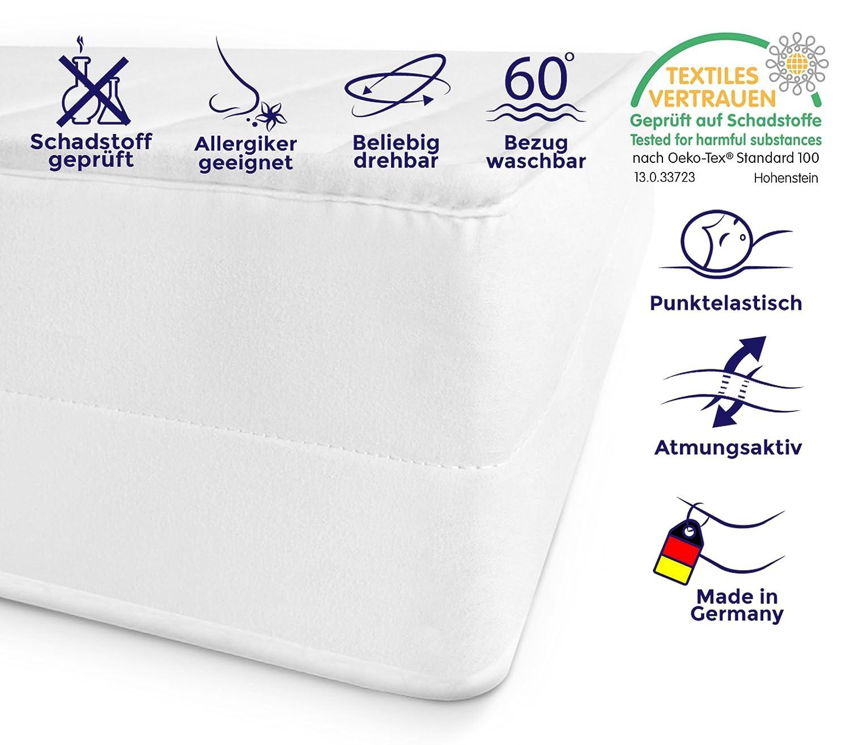 Mister Sandman 7-Zonen Kaltschaummatratze - Härtegrad H2&H3, Bezug wählbar, Öko-Tex Zertifiziert, Rollmatratze, Matratze Made in Germany (Mikrofaserbezug, 90 x 200 cm)