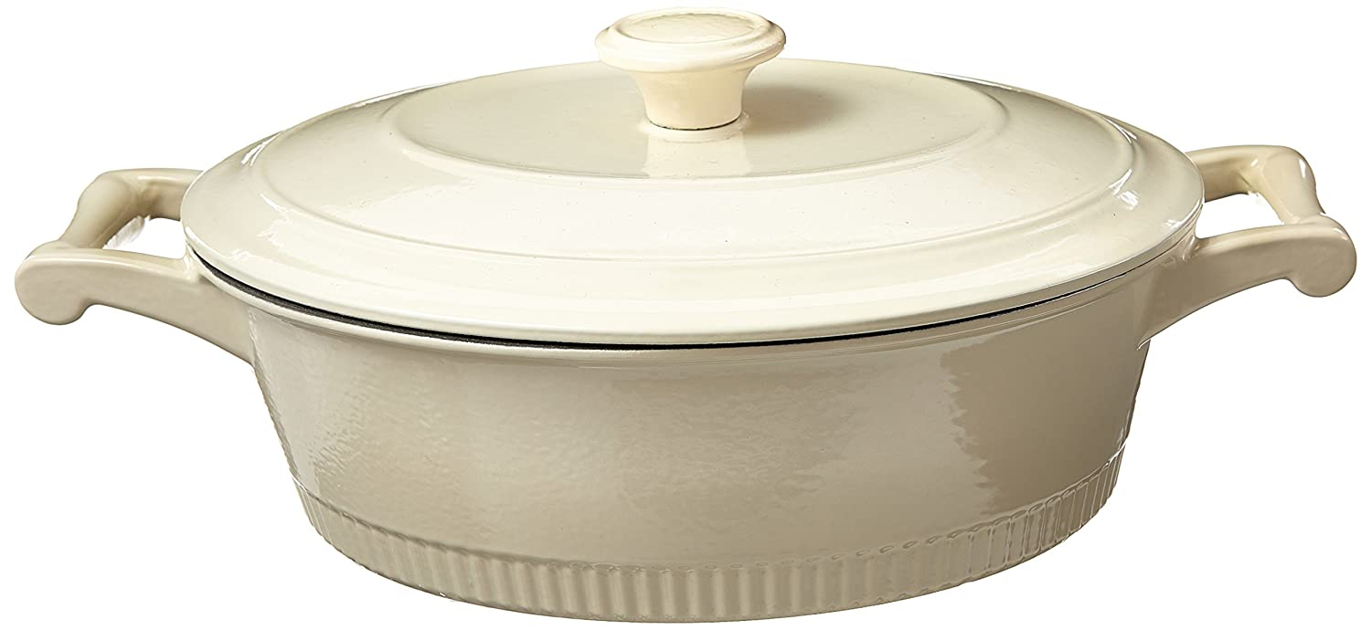 Amazon.com: KitchenAid KCTI40CRAC Traditional Cast Iron Casserole ...