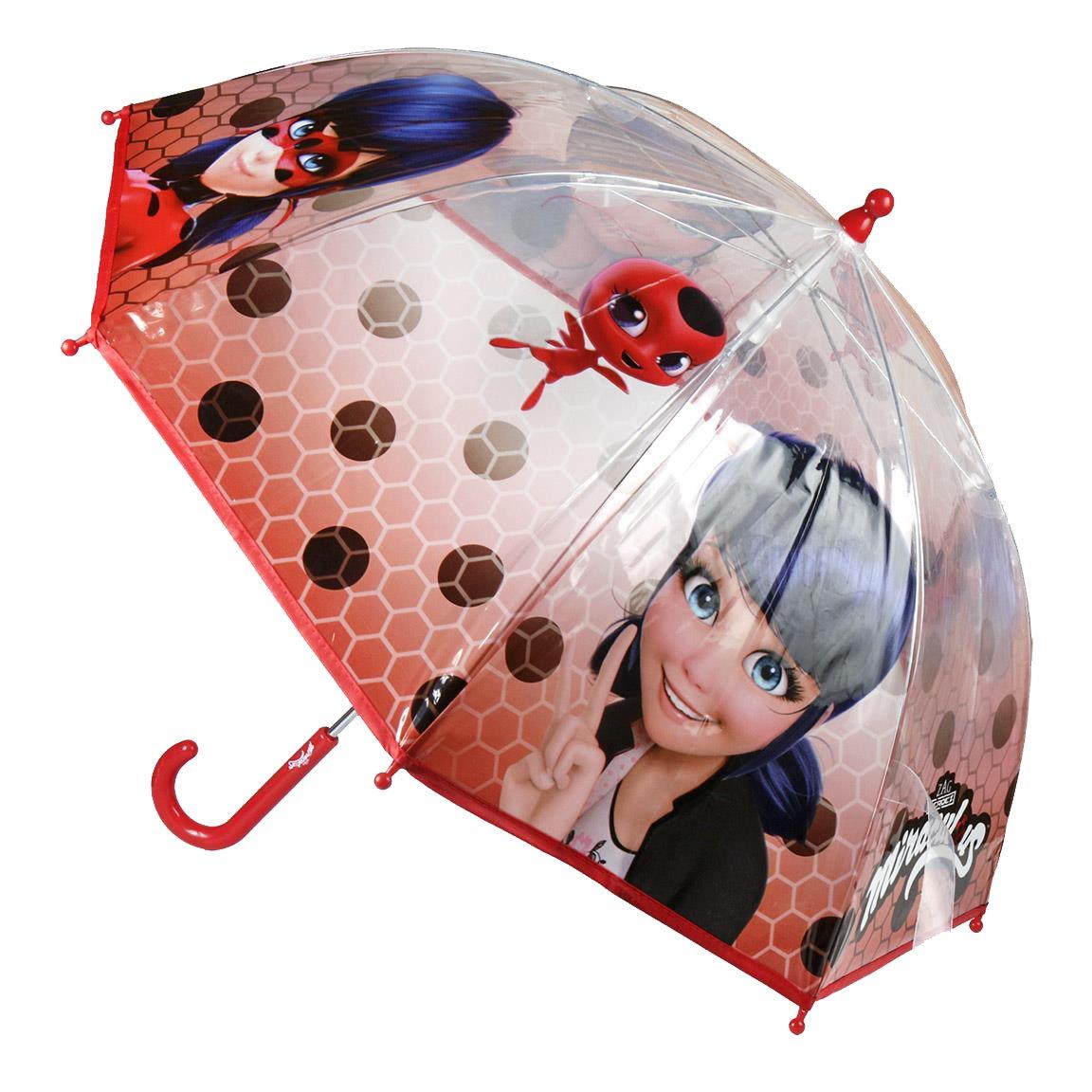 Paraguas transparente de Ladybug.