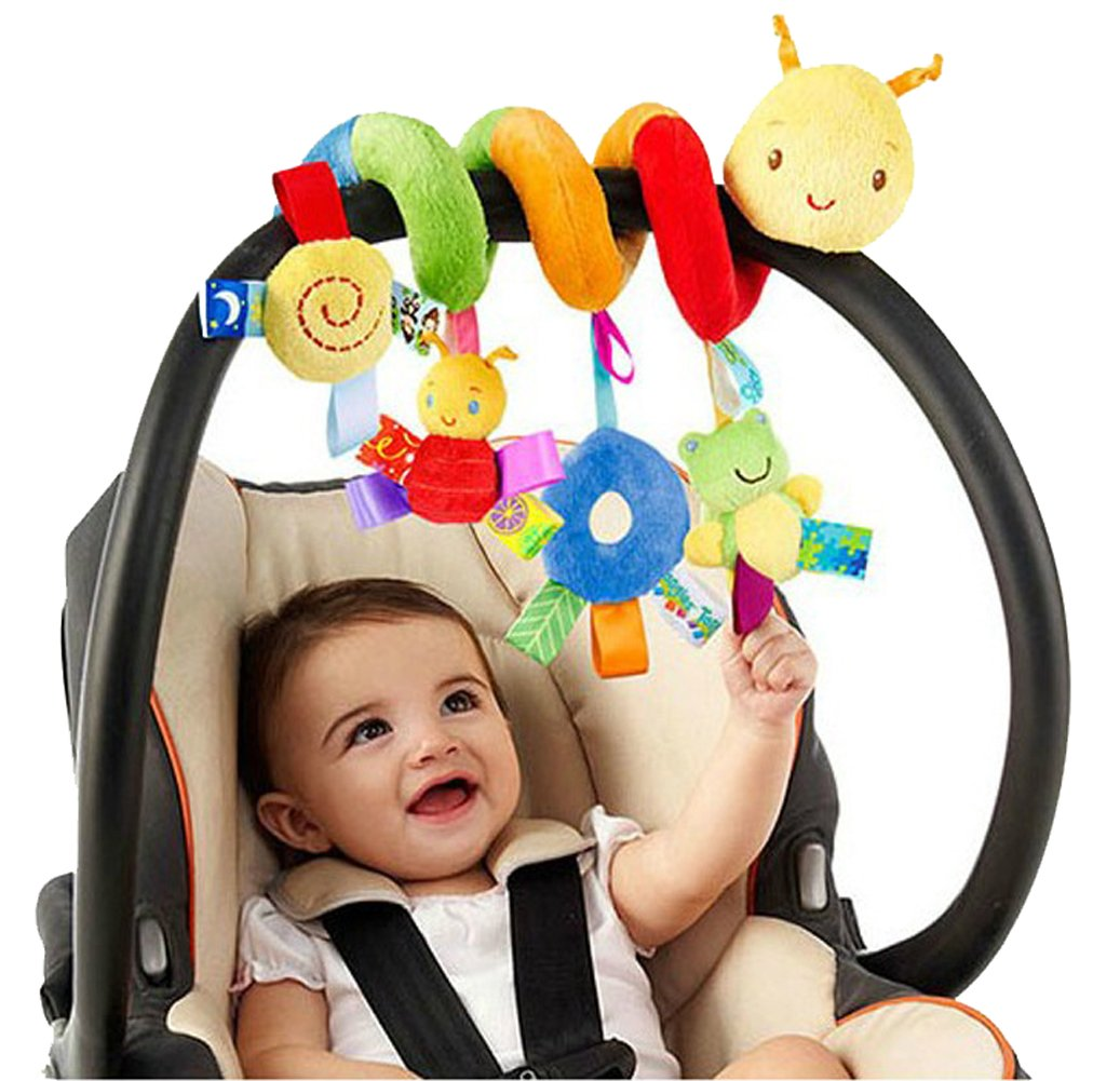 kseey Animal Handbells Developmental Toy Bed Bells Rattle Soft Toys For Baby Music toys Frog Fee Insect
