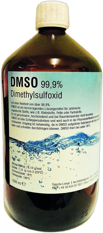 DMSO Dimetilsulfóxido 99,9% 1000 ml en botella de cristal: Amazon.es: Bricolaje y herramientas