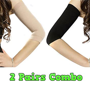 a269be1919 Amazon.com : Adecco LLC 2 Pair Slimming Compression Arm Shaper Helps Tone Shape  Upper Arms Sleeve : Beauty