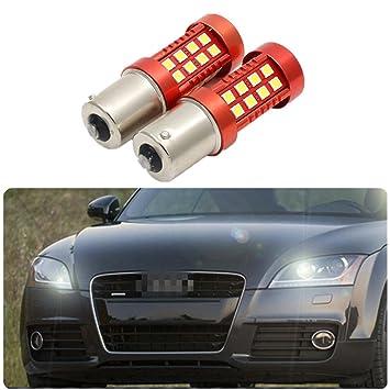 FEZZ Bombillas LED Coche Luz Diurna DRL S25 BA15S 1156 3030 36SMD CANBUS: Amazon.es: Coche y moto