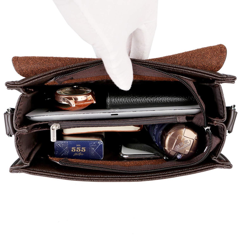 Business Men Messenger Bags Vintage Leather Crossbody Shoulder Bag For Male Casual Man Handbags Fashion Bags