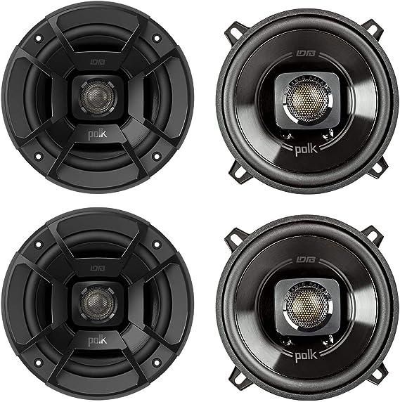 Black Set of 2 Polk Audio DB522 Outdoor Coaxial Home Speaker