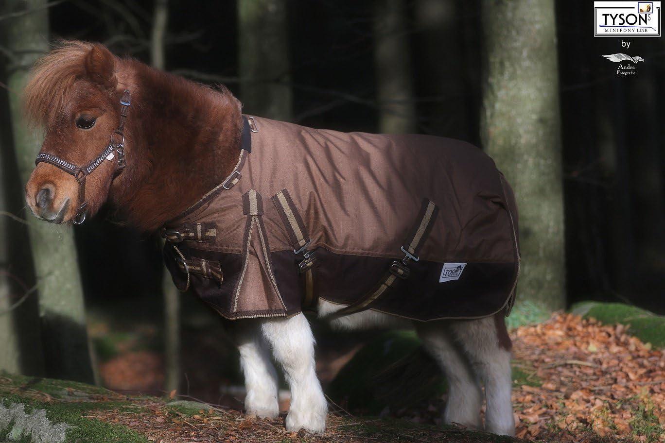 1200 D Outdoordecke Regendecke Braun ohne F/üllung Minishetty Minipony Mini Shetty 65 70 75 80 85 90 95 100 Tysons