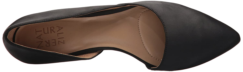Naturalizer Women's Samantha Pointed Toe Flat B071NGY83P 8 W US|Black Satin