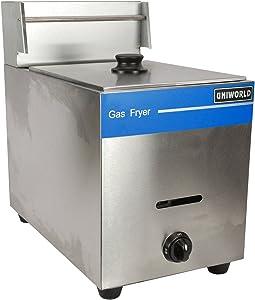 UniWorld Deep Fryer Single Basket Liquid Propane Stainless Steel UGF-71