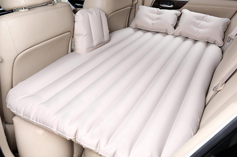 HAOXIAOZI Hinteres Sitz-SUV-Auto-aufblasbares Bett-Reise-Bett-erwachsenes Geteiltes Bett,BeigeA