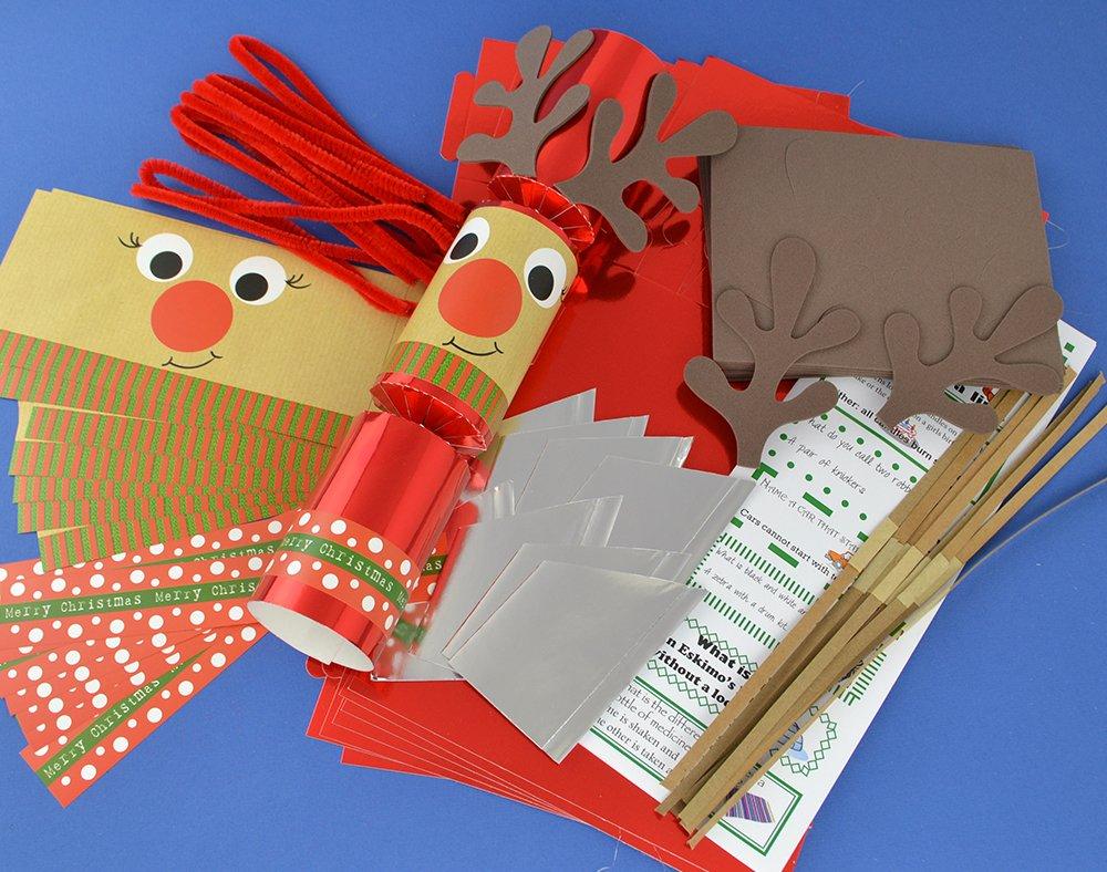 Amazon.de: 8 Rot Folie Standy Uppy Rudolph Make Your Own Weihnachten ...