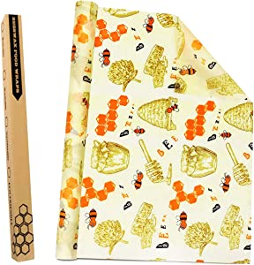Beeswax Food Wraps Reusable Wraps 100% Natural Cotton Beeswax Jojoba Oil For Food Storage Sustainable Sandwich Wrappers Washable Bowl Covers Roll