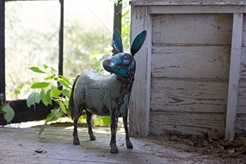 KALALOU Reclaimed Metal Donkey, One Size, Multicolored