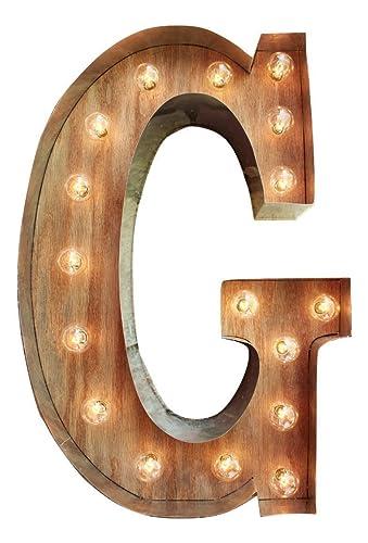 Amazon.com: G Marquee Light Up Letter Sign   CUSTOM A Z Light Bulb